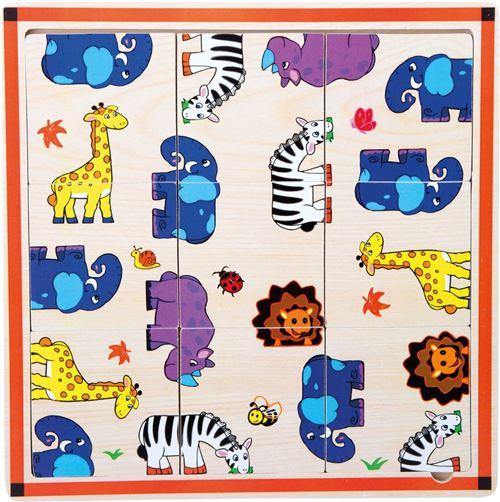 Puzzle cadre Safari en bois - 10342