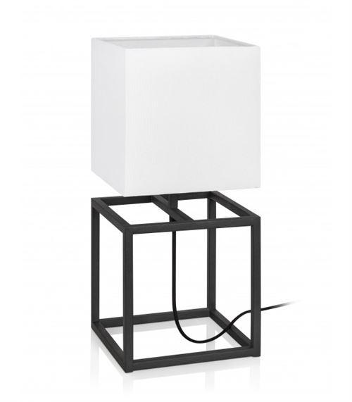 Lampe de table CUBE Noire et blanche