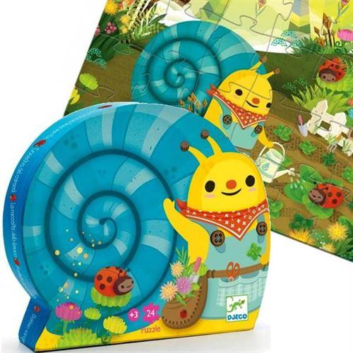 Puzzle Djeco Boite Silhouette Escargot 24 Pieces Enfants 3 Ans +