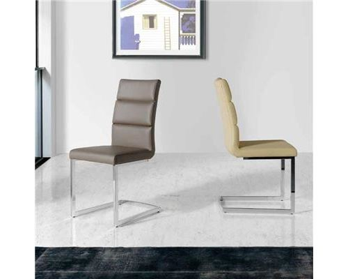 Chaise noire design ARGOS (lot de 4) - Beige