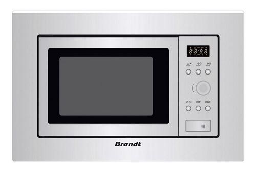Brandt BMS6112X - Four micro-ondes monofonction - intégrable - 17 litres - 700 Watt - acier inoxydable
