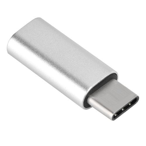 Type C à 3,5 mm Câble d'adaptateur audio Connecteur d'adaptateur de casque (Argent)