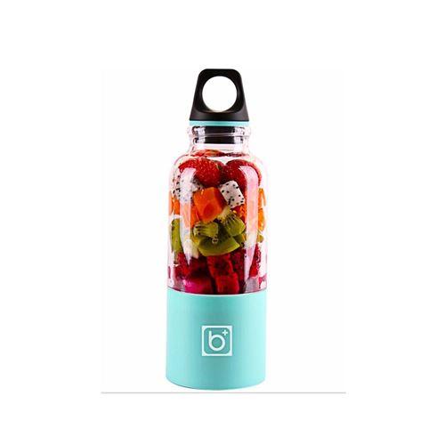 Juicer Blender Portable 500 Ml Électrique Rechargeable Avec USB Chargeur Câble Pour Fruits Légumes Bleu Clair