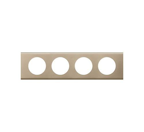 Plaque métallique Céliane - Nickel velours - Quadruple horizontale / verticale 71mm