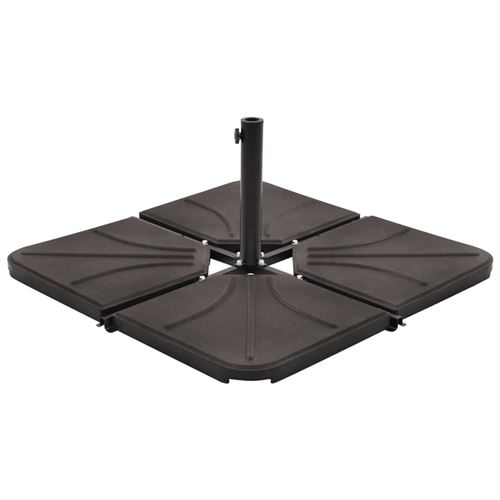 vidaXL Plaque de poids de parasol Noir Béton Carré 18 kg