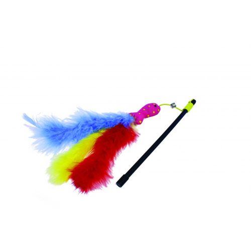 Happy Pet Carnival - Canne à pêche pour chat (26 x 3 x 2cm) (Multicolore) - UTBT870