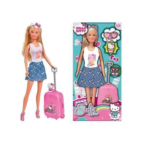 poupee hello kitty - steffi love en voyage poupée 29cm