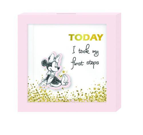 Disney tirelire Minnie Mouse 16 cm filles bois rose/blanc