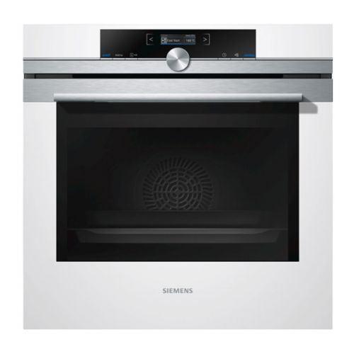 Siemens iQ700 HB673GBW1F - Four - intégrable - niche - largeur : 56 cm - profondeur : 55 cm - hauteur : 58.5 cm - avec système auto-nettoyant - classe A+ - blanc