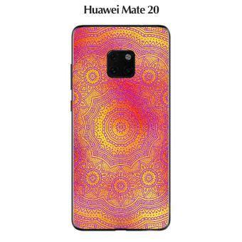 Coque Huawei MATE 20 design Mandala rosace Or & Rose