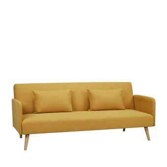 canap convertible scandinave 3 places nielson couleur jaune moutarde achat prix fnac. Black Bedroom Furniture Sets. Home Design Ideas