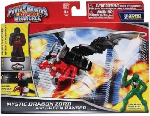 Coffret power ranger vert + dragon zord - robot tranformable