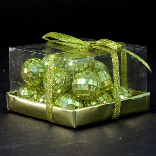 20 Boules décorations de Table - Noël - Doré