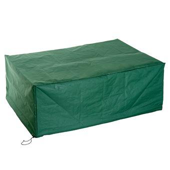 Housse de protection etanche pour meuble salon de jardin rectangulaire 210L  x 140l x 80H cm vert