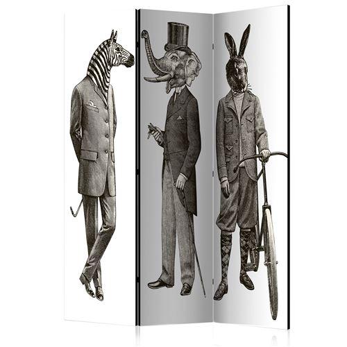 paravent 3 volets - elegant zoo [room dividers] - artgeist - 135x172