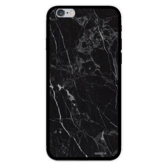 Coque pour iPhone 6 6S rigide transparente Marbre noir Ecriture Tendance et Design Evetane