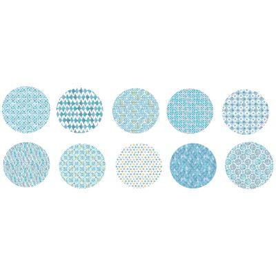 60 Feuilles Papier Décoratif , Origami, Scrapbooking - Thème Bleu Méditerranée
