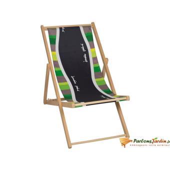 Chilienne amovible en bois et coton Malaga Vert - Mobilier de Jardin ...