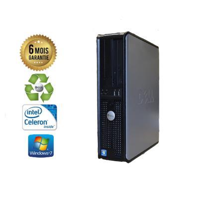 Unite Centrale Dell Optiplex 380 SSF Intel Celeron E3300 2,5Ghz Mémoire Vive RAM 4GO Disque Dur 120Go SSD Graveur DVD Windows 7 - Processeur Intel Celeron E3300 2,5Ghz RAM 4GO HDD 120Go SSD