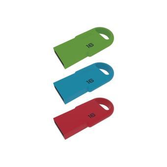 Pack de 3 mini clés USB 2.0 Emtec D250 16 Go