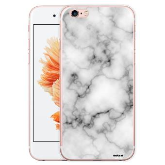 Coque pour iPhone 6 6S rigide transparente Marbre blanc Ecriture Tendance et Design Evetane