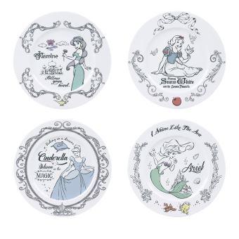 Set de 4 platos Disney - Princesas