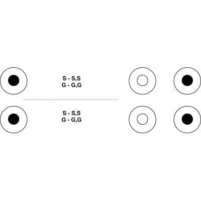 Adaptateur audio de Jack 3,5 mm mâle vers Jack 6,35 mm femelle noir