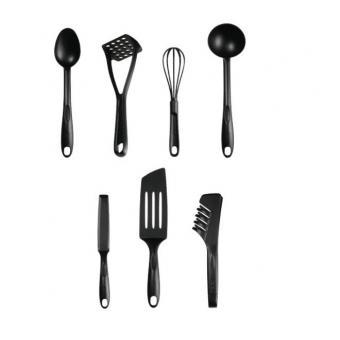 Tefal Bienvenue Set de 7 Ustensiles de Cuisine Noir - Achat & prix on