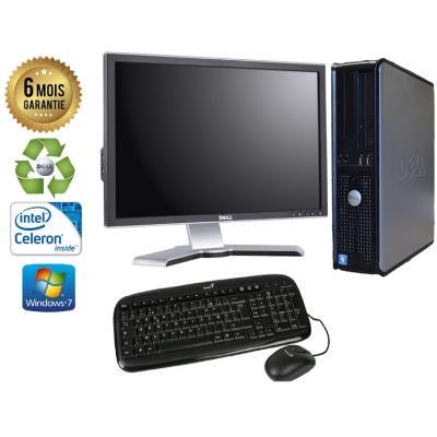 Unite Centrale Dell Optiplex 380 SSF Intel Celeron E3300 2,5Ghz Mémoire Vive RAM 4GO Disque Dur 750 GO Graveur DVD Windows 7 - Ecran 21(selon arrivage) - Processeur Intel Celeron E3300 2,5Ghz RAM 4GO HDD 750 GO Clavier + Souris Fournis