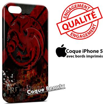 Coque iPhone 5 & 5S Game of Thrones Fire and Blood Targaryen