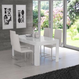 Finlandek Table A Manger Extensible Kova 160 207x75 Cm Blanc