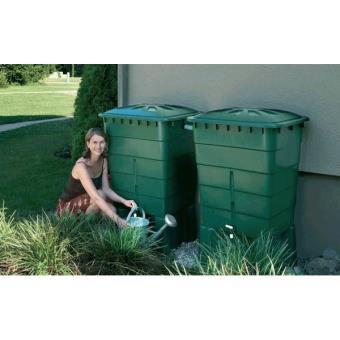 kit 2 cuves de r cup ration d 39 eau de pluie 300 litres rectangulaire accessoires d 39 arrosage. Black Bedroom Furniture Sets. Home Design Ideas