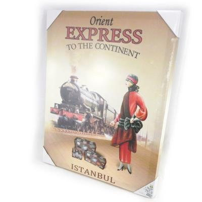 Toile rétro 'Orient Express'
