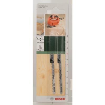 Bosch 2609256761 Hcs - U 1 Ao Lame De Scie Sauteuse Pour Coupe Courbe Nette Dans Le Bois Tendre Epaisseur 1,5-15 Mm