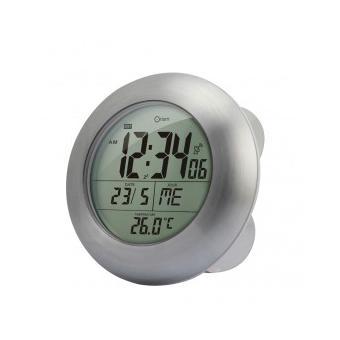 Horloge de salle de bain sans fil tanche et radio for Radio etanche pour salle de bain