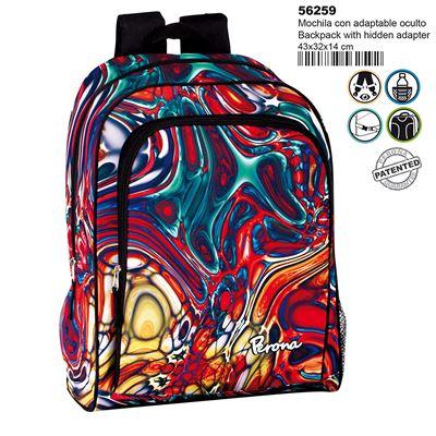 Montichelvo Montichelvo Backpack A.O. Pr Mix Cartable, 43 cm, Multicolore (Multicolour)
