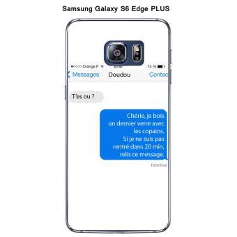 coque galaxy s6 message