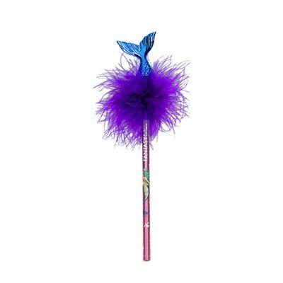 Crayon à Papier Mondes Fantastiques - Queue de sirène et plumes - Tons violets