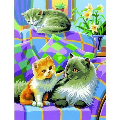Oz International - Peinture au numéro - Débutants - Duo : Chats