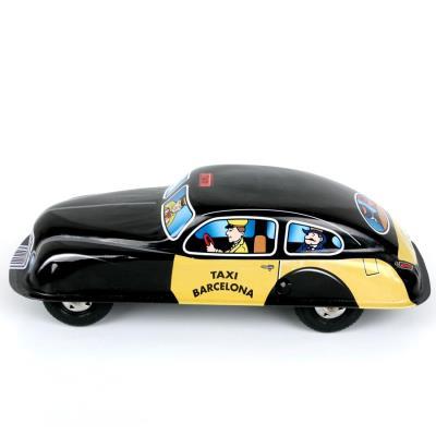 Ancien Réédition Métal Barcelone Jouet Fer En Voiture Taxi Mecanique OyvNwm80n