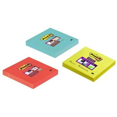 3m post-it super sticky notes haftnotizen, 76 x 76 mm 6546sp