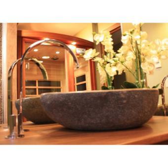 -45€ sur Vasque à poser en pierre de rivière ø 40 cm - eden-roc -  Installations salles de bain - Achat   prix   fnac 4a918389e6e9