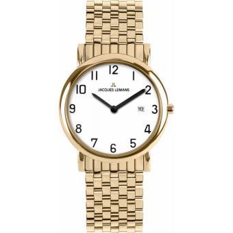 Bracelet montre homme plaque or