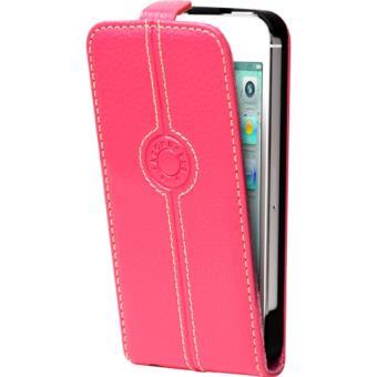 coque a clapet rose iphone 5