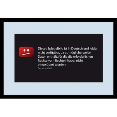 Empire Merchandising 631787 Miroir avec cadre plastique et texte amusant en allemand 20 x 30 cm