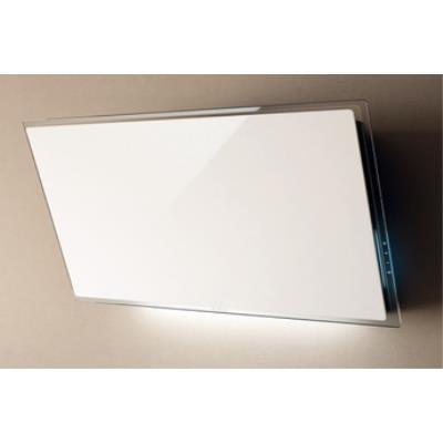 Elica Elle WH/F/80 - Hotte - hotte décorative - largeur : 81 cm - profondeur : 36 cm - evacuation & recyclage - Blanc verre
