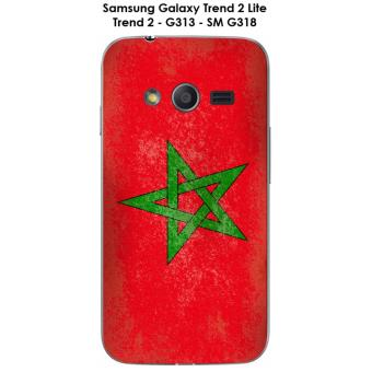 Coque Samsung Galaxy Trend 2 Lite - G313 - SM G318 Drapeau Maroc vintage
