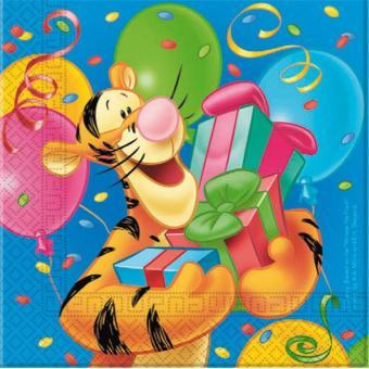 16 Serviettes Winnie L Ourson Decoration Anniversaire Article De