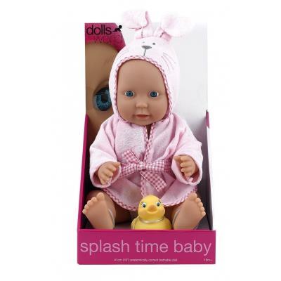 Dolls World - Splash Time Baby - Poupée Fille pour le Bain - Poupon 46 cm + Accessoires