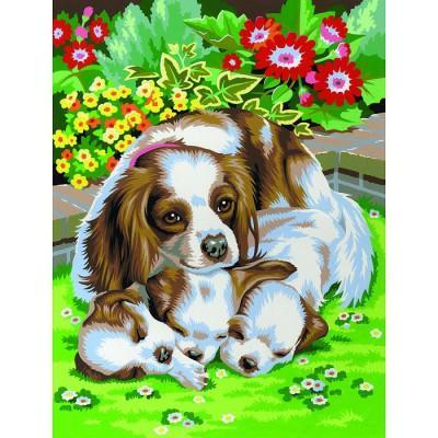 Oz International - Peinture au numéro - Débutants - Duo : Chiens